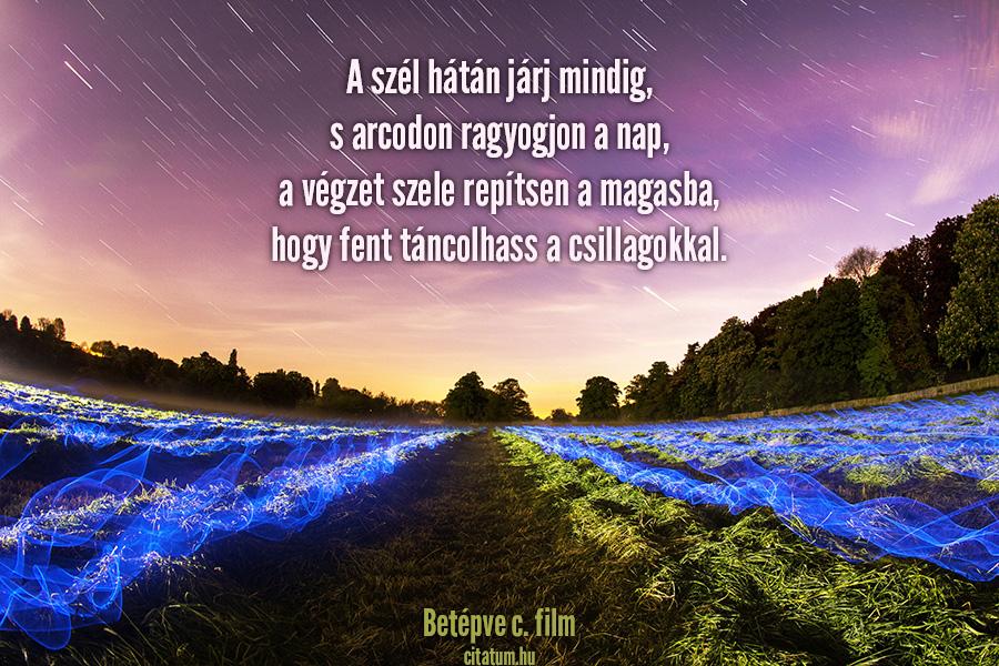 egy nap idézetek A szél hátán járj mindig