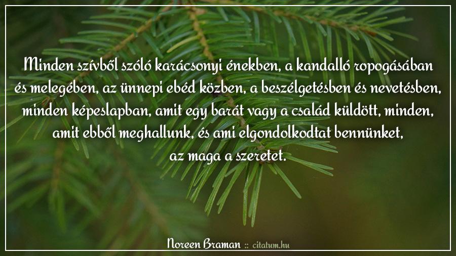 szeretet idézetek karácsonyra Minden szívből szóló karácsonyi énekben