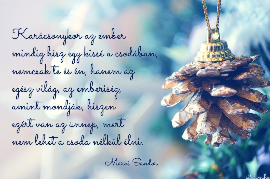Karácsonykor az ember mindig hisz...