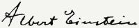 Albert Einstein aláírása
