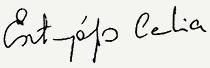 Esztergályos Cecília aláírása