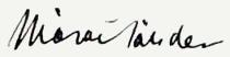 Márai Sándor aláírása