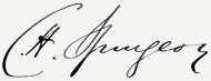Charles Haddon Spurgeon aláírása