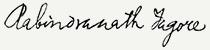 Rabindranath Tagore aláírása